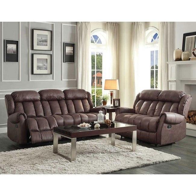 Mankato Reclining Living Room Set (Chocolate)