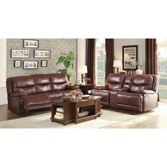 Risco Reclining Living Room Set (Burgundy)