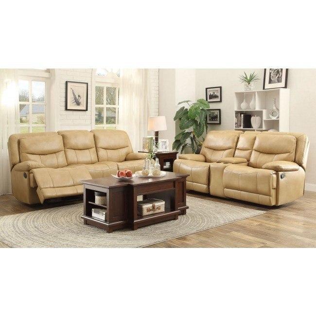 Risco Reclining Living Room Set (Honey)