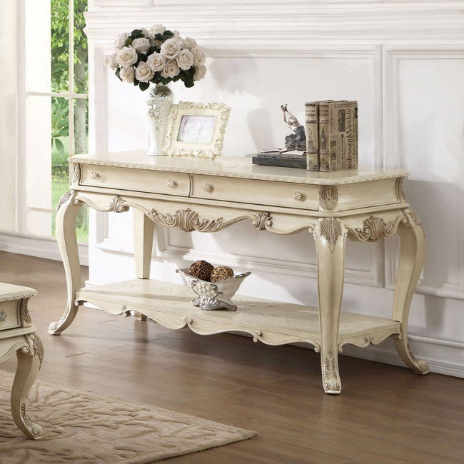Ragenardus Sofa Table (Antique White)