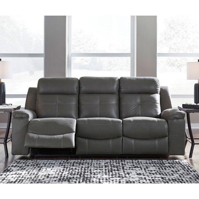 Jesolo Dark Gray Reclining Sofa By Signature Design By