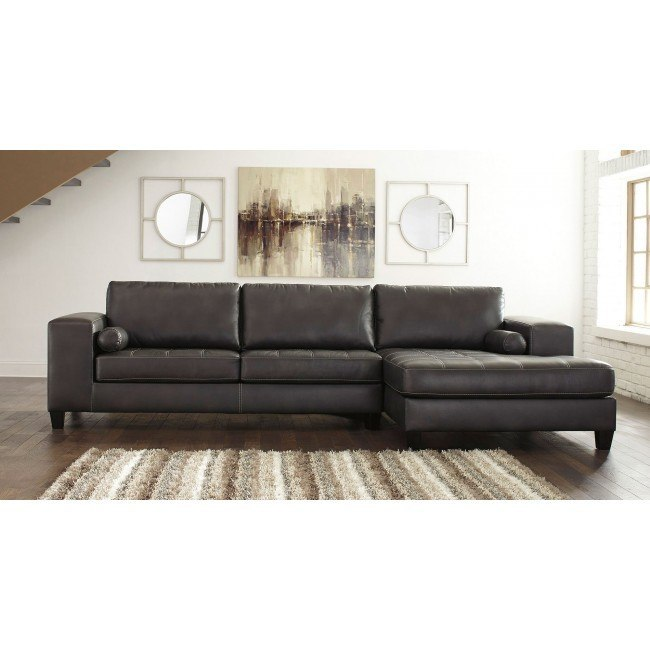 Nokomis Charcoal Right Chaise Sectional