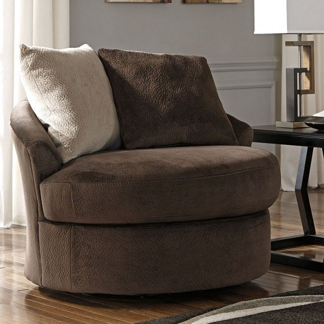 Pleasing Dahlen Chocolate Swivel Accent Chair Lamtechconsult Wood Chair Design Ideas Lamtechconsultcom