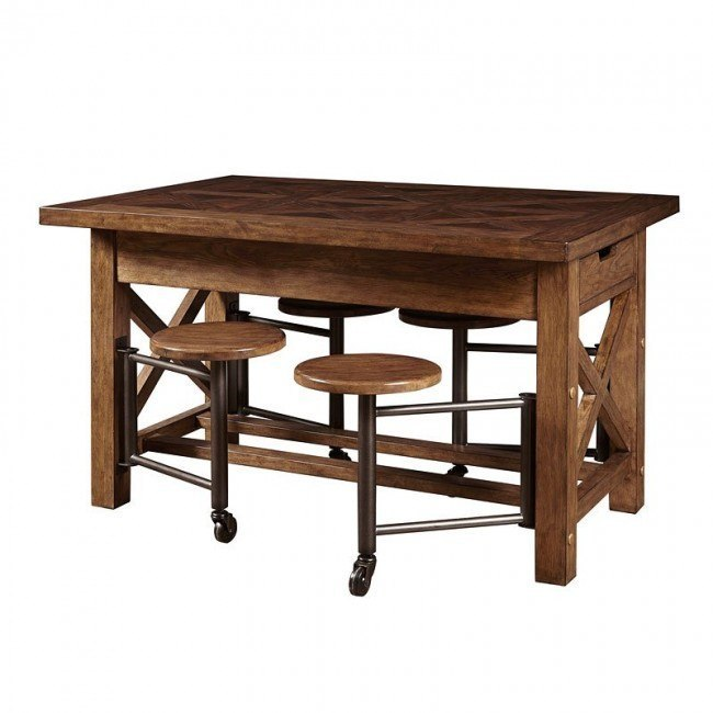 American Attitude Gathering Table w/ Attached Stools