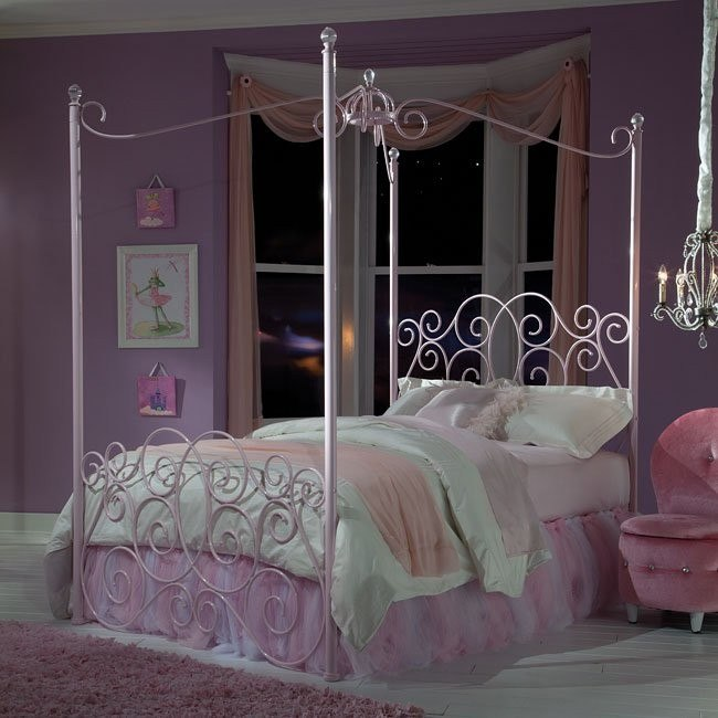 Princess Canopy Bed (Pink)