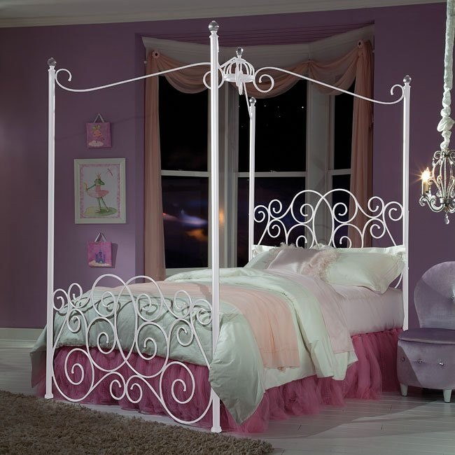 Princess canopy bed white by standard furniture - Canopy bed ideas for adults ...