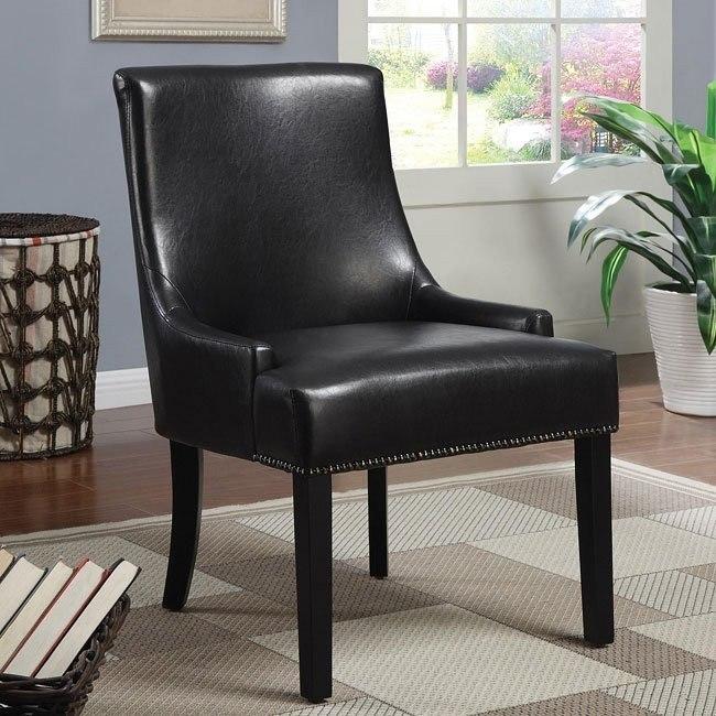 Dark Brown Armless Accent Chair