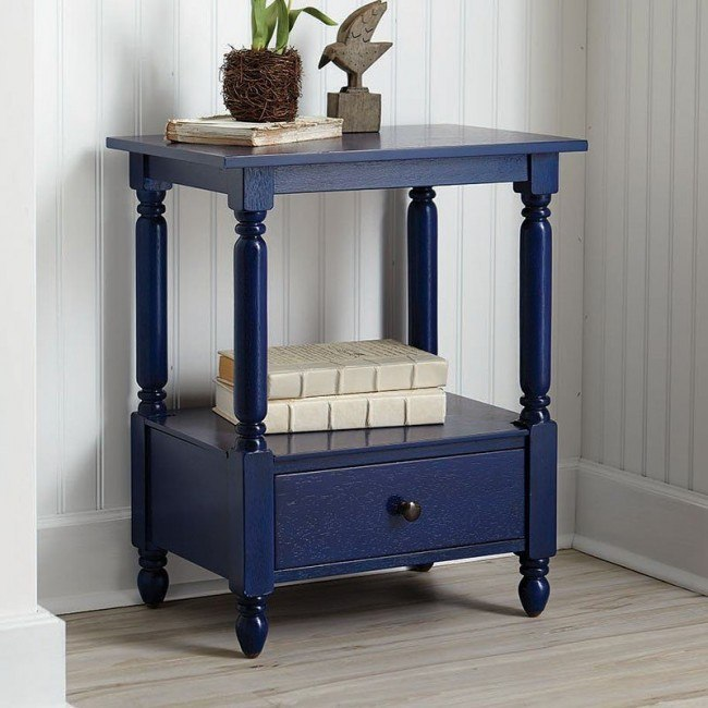 Navy Blue Accent Table By Coaster