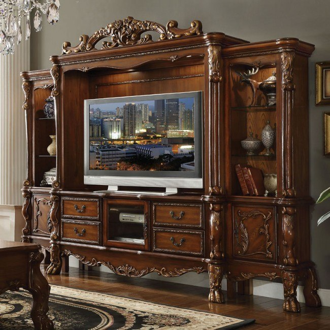 Dresden Entertainment Wall (Cherry Oak)