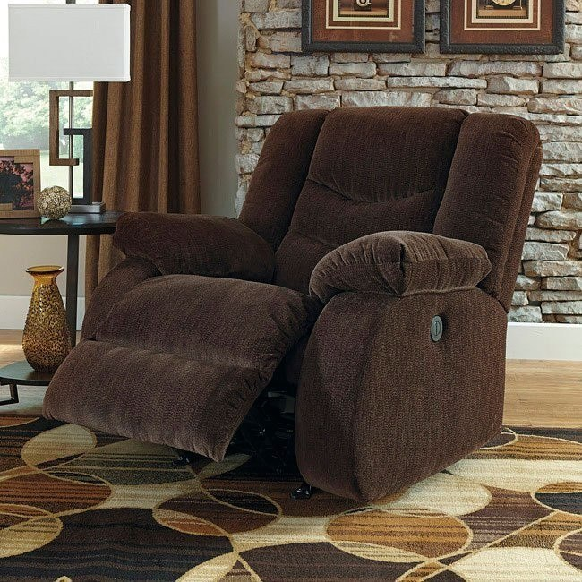 Garek Cocoa Rocker Recliner w/ Power