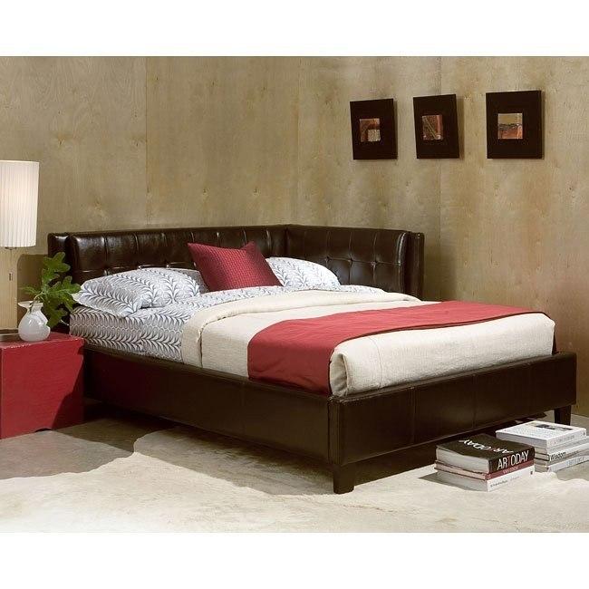 Rochester Corner Bed (Brown)