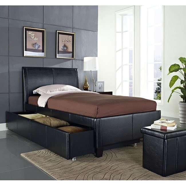 New York Trundle Bed (Black)