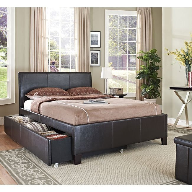 New York Trundle Bed (Brown)