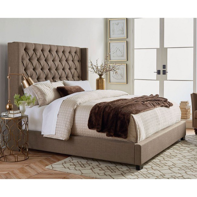Westerly Upholstered Bed (Brown)