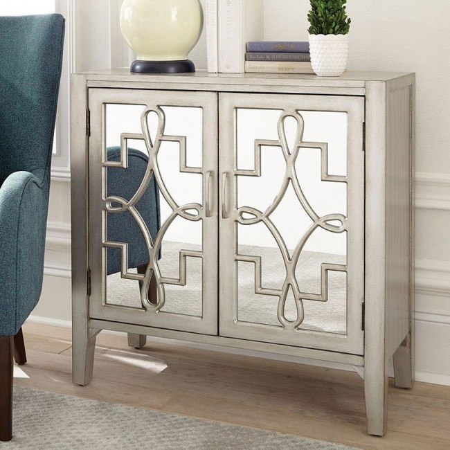 Champagne Accent Cabinet