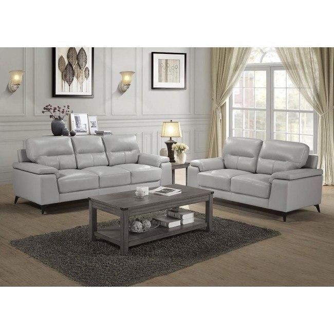 Mischa Living Room Set Silver