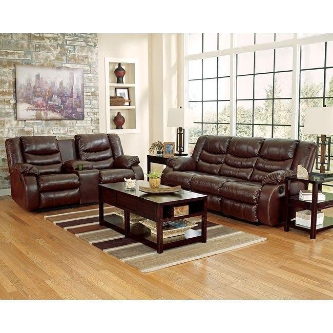 Linebacker DuraBlend Espresso Living Room Set