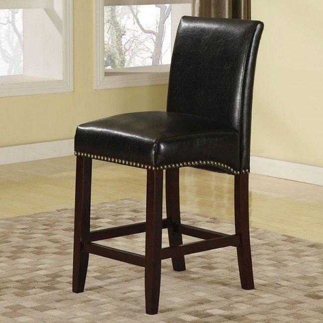 Jakki Bar Chair (Black) (Set of 2)