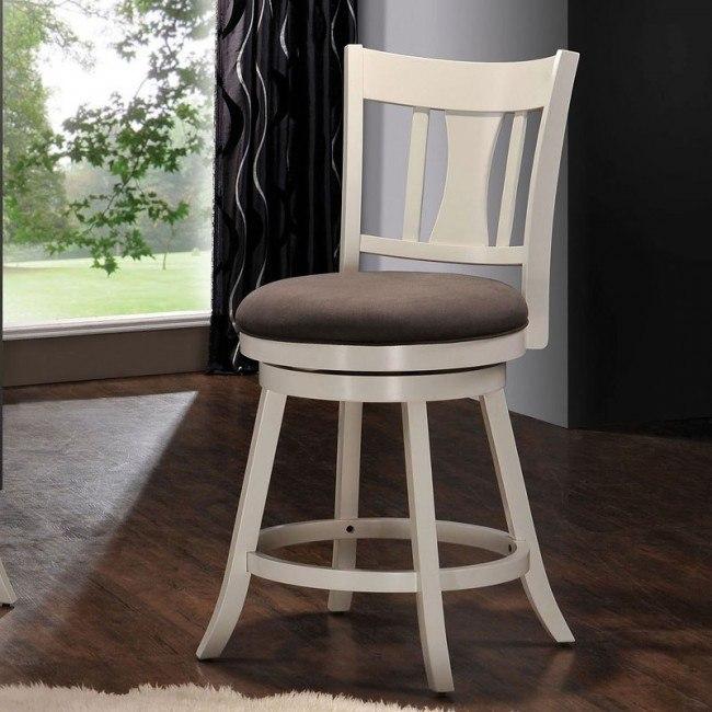 Tabib Swivel Counter Chair (White)