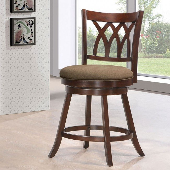 Tabib Swivel Counter Chair (Espresso)