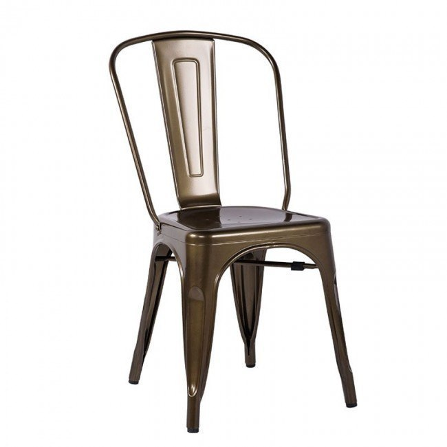 Jakia Side Chair (Bronze) (Set of 2)
