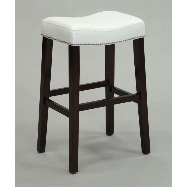 Lewis Counter Height Stool (White) (Set of 2)