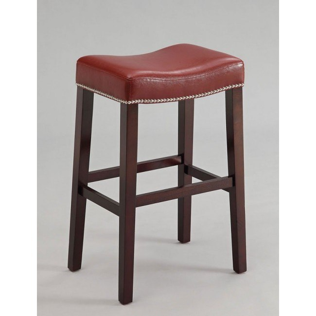 Lewis Counter Height Stool (Red) (Set of 2)