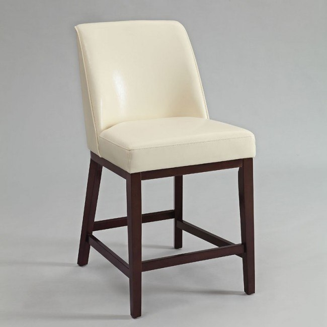 Valor Counter Height Chair (Ivory) (Set of 2)