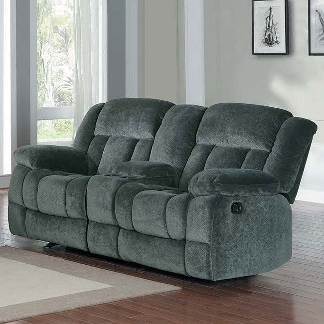 Laurelton Double Glider Reclining Loveseat (Charcoal)