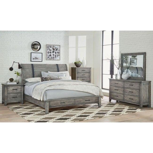 Nelson Storage Bedroom Set (Grey)