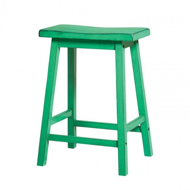 Gaucho Counter Height Stool (Antique Green) (Set of 2)