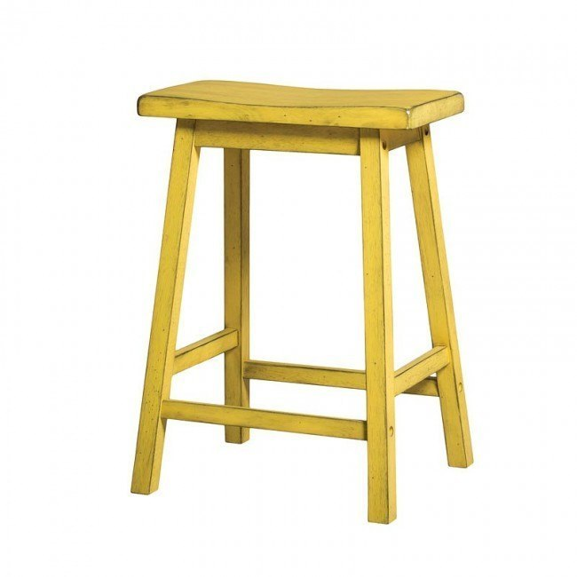 Gaucho Counter Height Stool (Antique Yellow) (Set of 2)