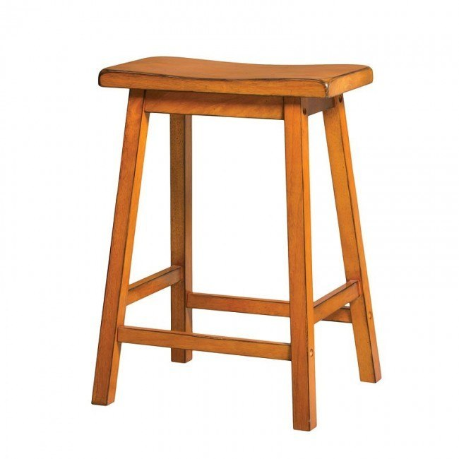 Gaucho Counter Height Stool (Antique Oak) (Set of 2)