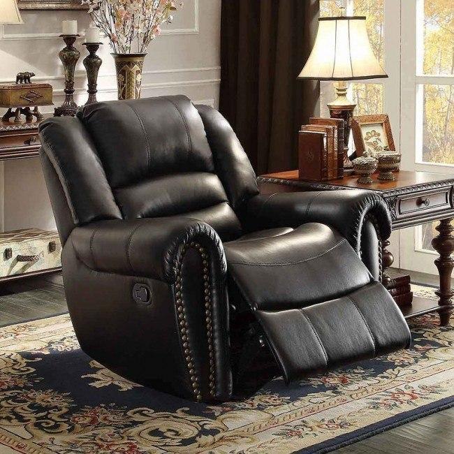 Center Hill Power Reclining Chair (Black)