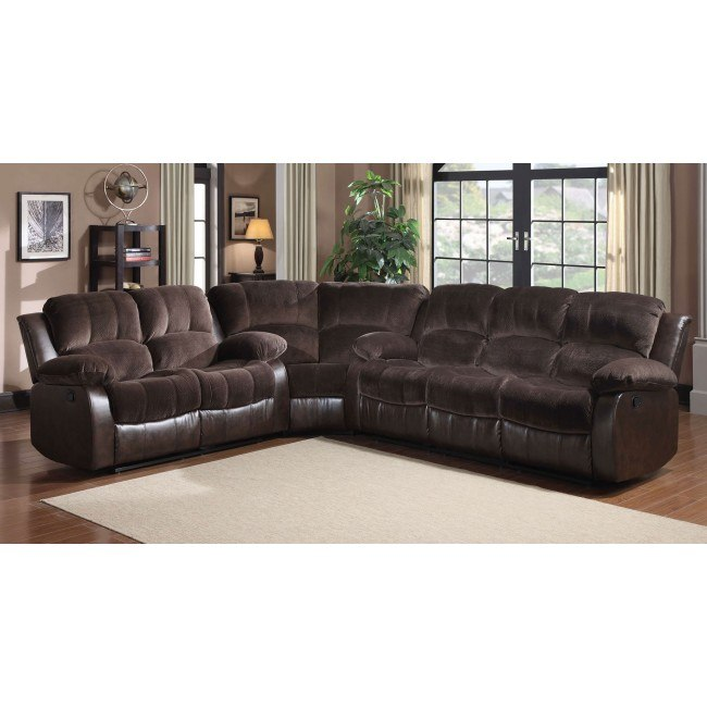 Cranley Reclining Sectional Set (Chocolate)