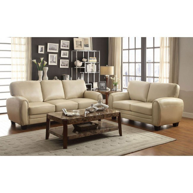 Rubin Living Room Set (Taupe)