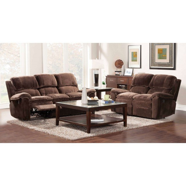Reilly Reclining Living Room Set (Chocolate)