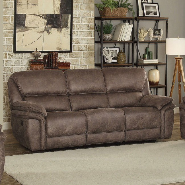Hadden Reclining Sofa (Dark Brown)