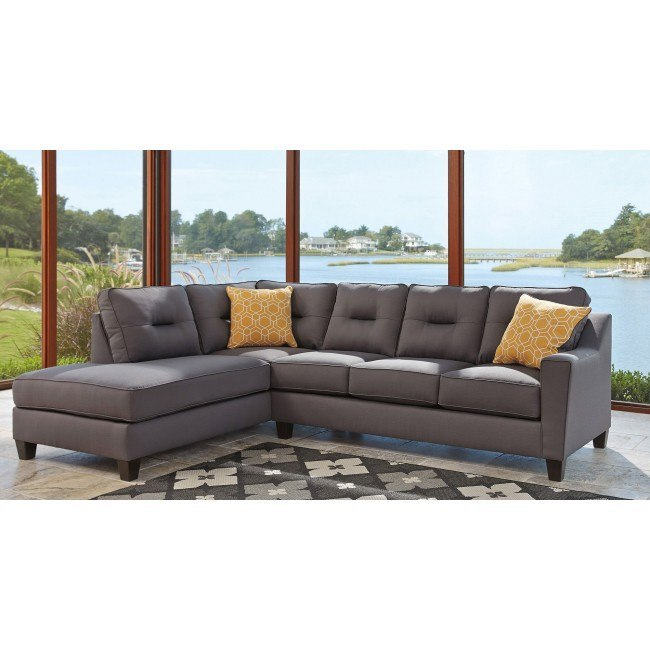 Remarkable Kirwin Nuvella Gray Left Chaise Sectional Home Interior And Landscaping Palasignezvosmurscom