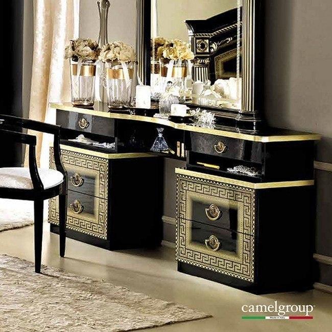Aida Vanity Dresser (Black and Gold)