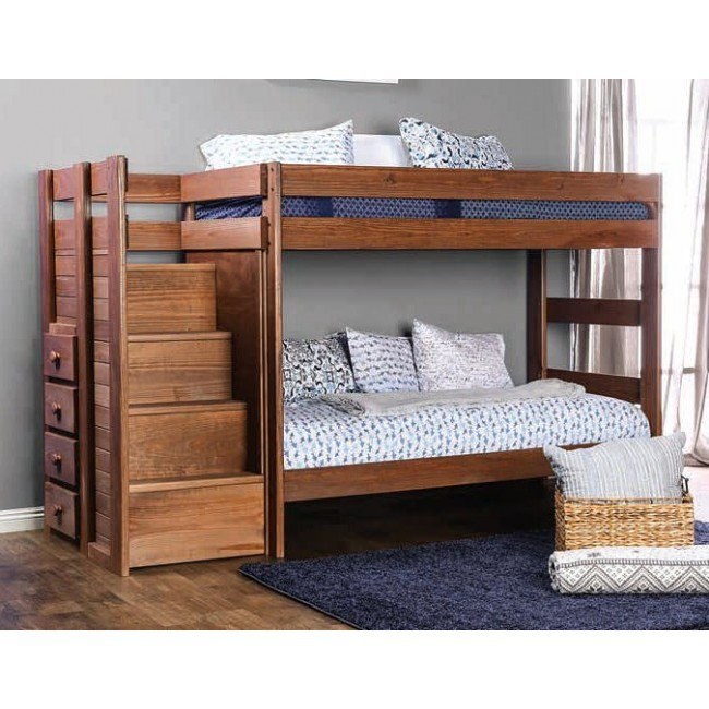 Ampelios Twin over Twin Bunk Bed