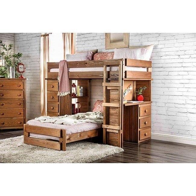 Beckford Student Loft Bedroom Set By Furniture Of America