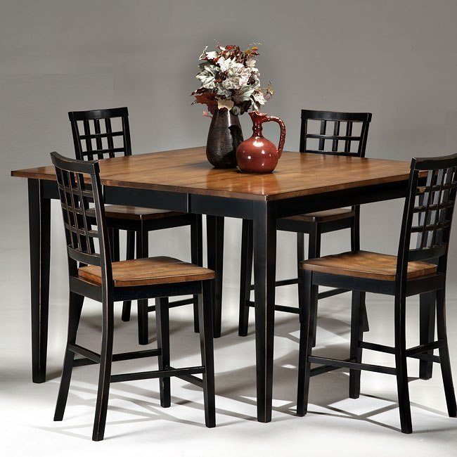 Arlington Counter Height Dining Table (Black/Java)