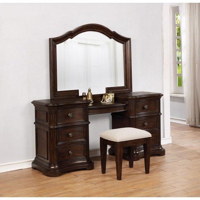Key City Vanity Desk W Mirror By Avalon Furniture Furniturepick