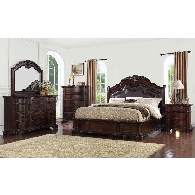 St Louis Upholstered Bedroom Set