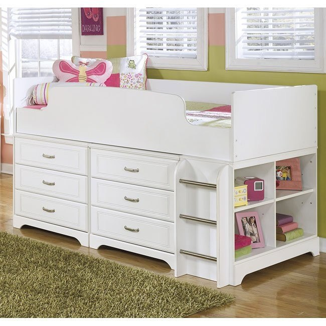 Lulu Loft Bed W Six Drawers And Shelves By Signature Design By Ashley 2 Review S Furniturepick