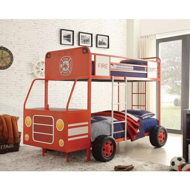 Engine One Twin/Twin Bunk Bed (Fire Truck)