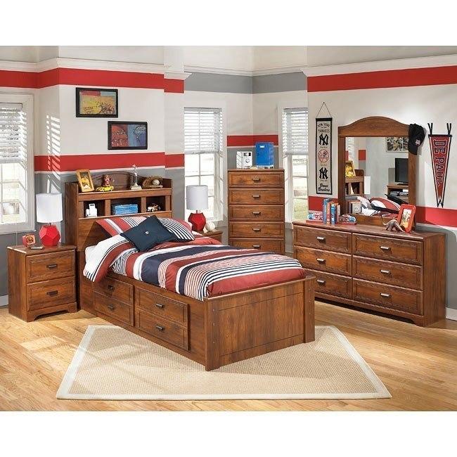 Barchan Bookcase Bedroom Set w/ Storage