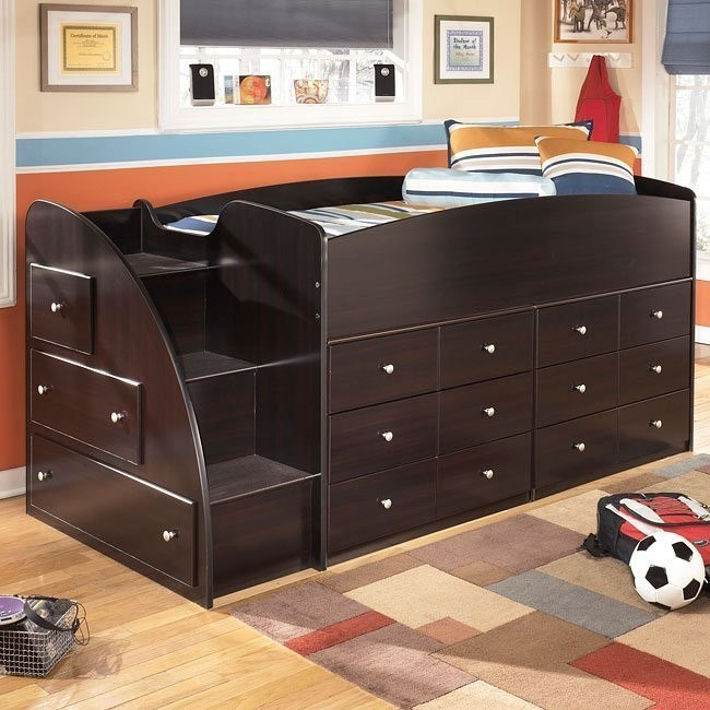 Embrace Loft Bed W Drawers And Left Steps By Signature Design By Ashley 1 Review S