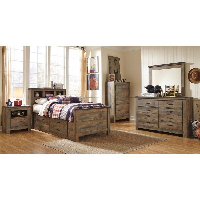 Trinell Youth Bookcase Bedroom Set